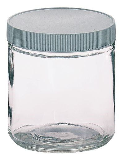 glass jar magnified lid